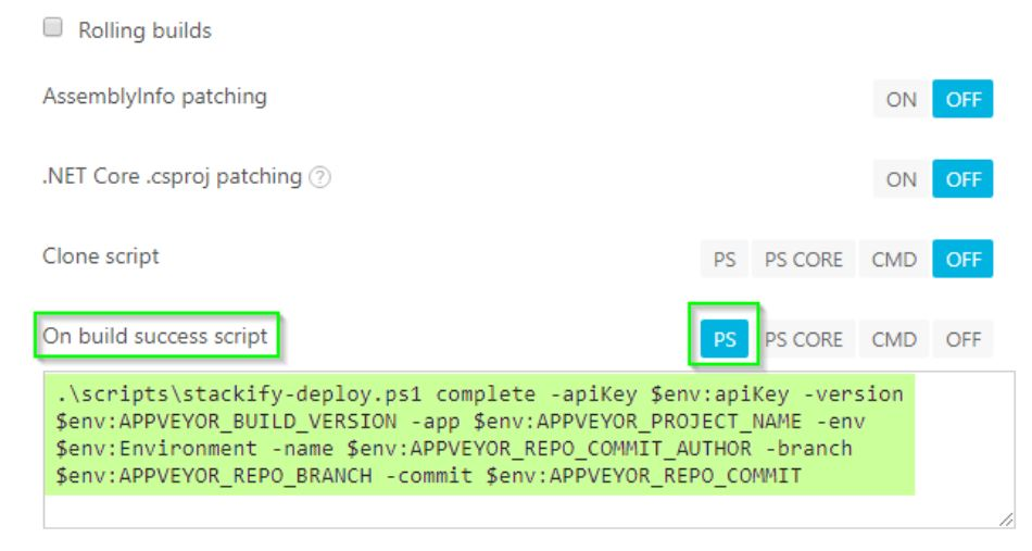 AppVeyor Deployment Tracking Integration with Retrace